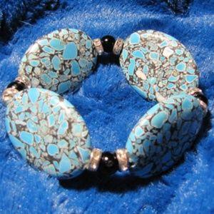 Handmade Brecciated Turquoise Gemstone Bracelet